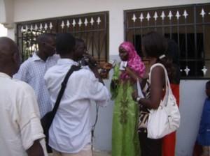 infirmiere interwieve par la presse senegalaise en 2008